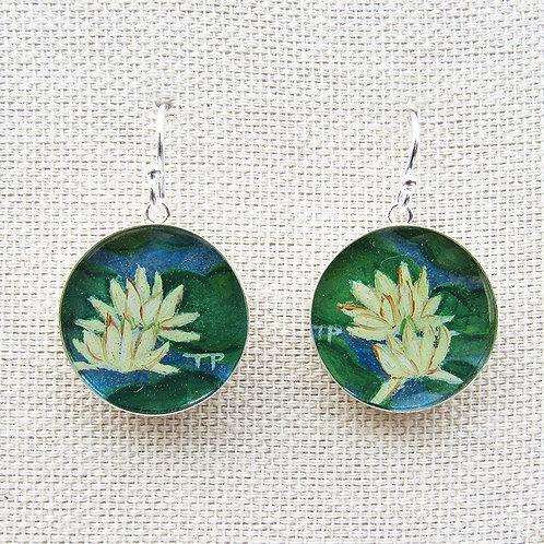 Water Lillies Earrings