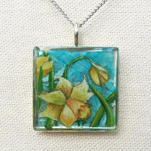 Daffodils Large Square Necklace