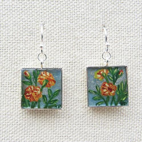 Marigolds Square Earrings