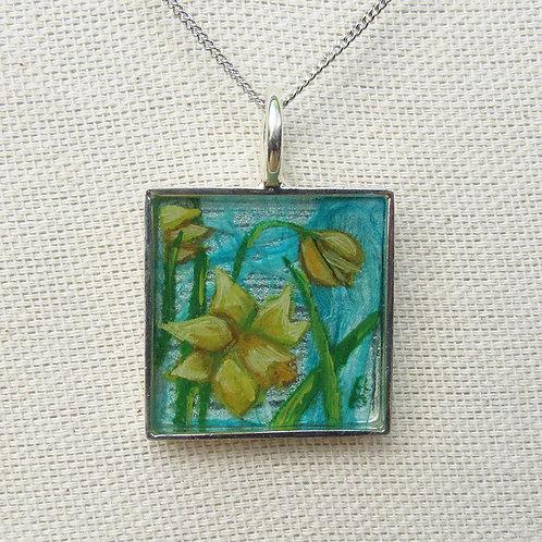 Daffodils Square Necklace