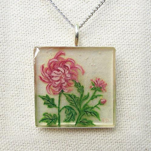 Chrysanthemum Large Square Necklace