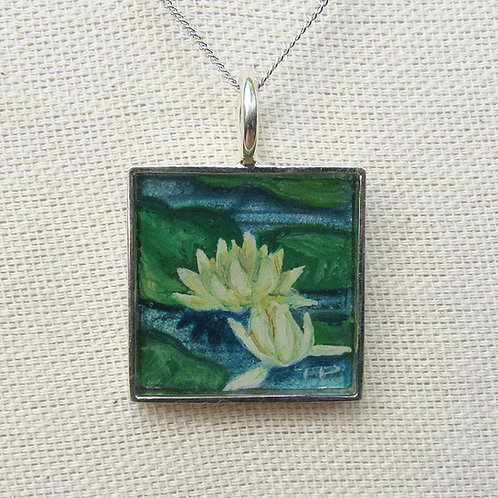 Water Lillies Square Necklace