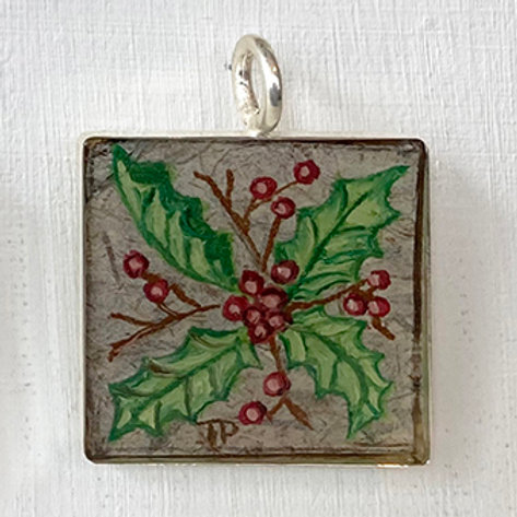 December Holly in Large Square