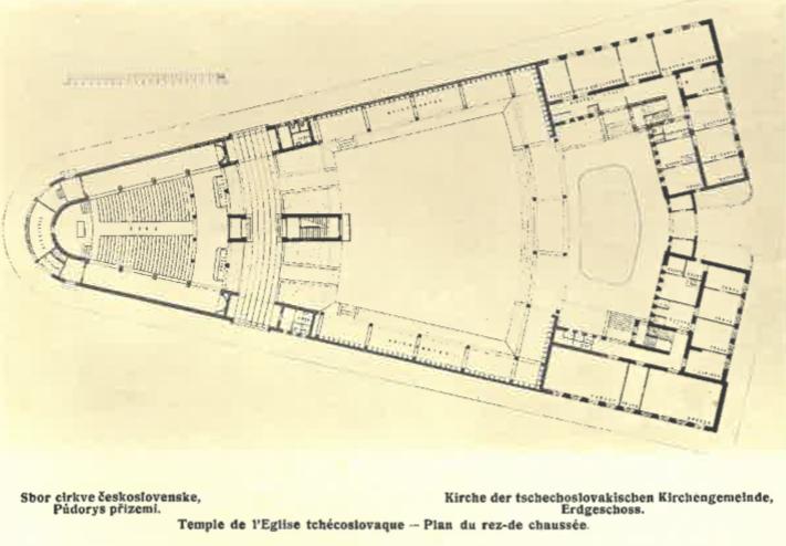 Sbor čs. církve (půdorys přízemí)