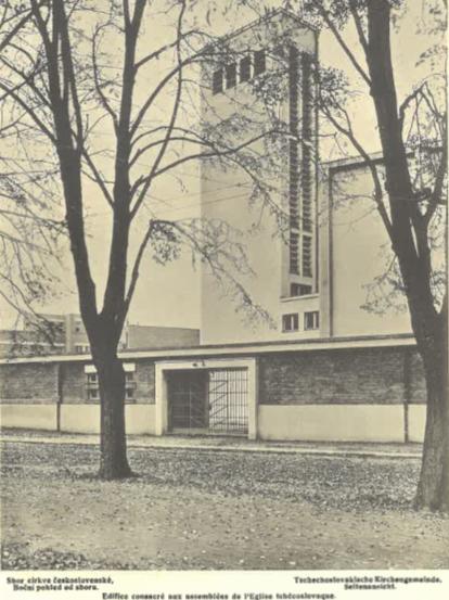 Sbor čs. církve (boční pohled od sboru).