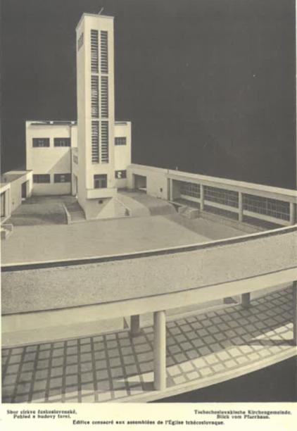 Sbor čs. církve (pohled a budovy farní).