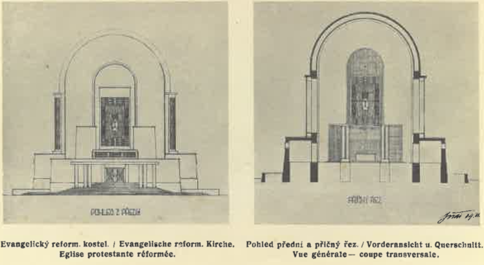 Projekt evangelického kostela_1909 (poh