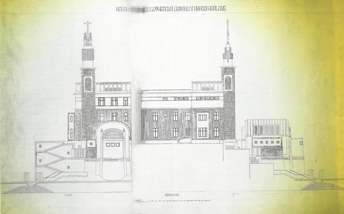 Projekt Lutherova ústavu_1909 (čelní