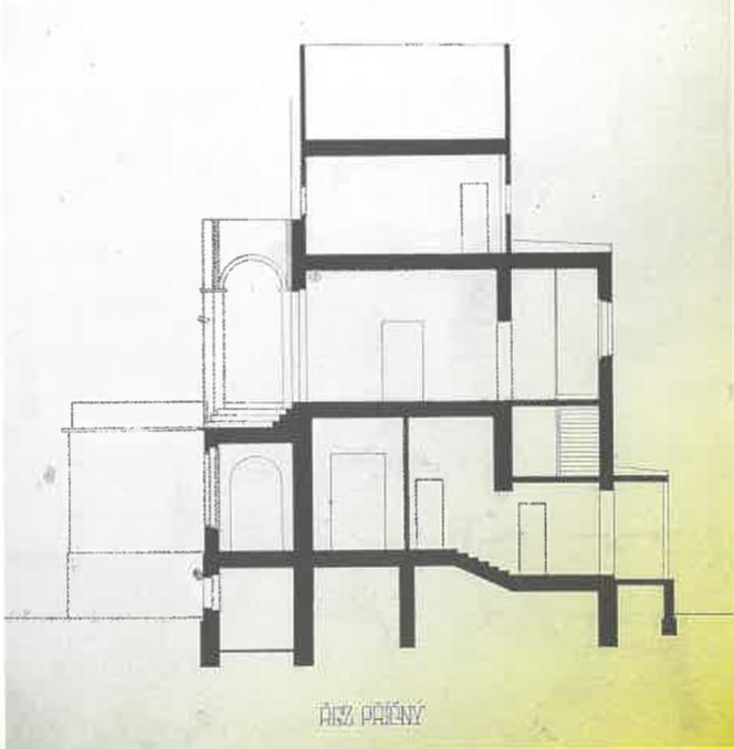 Projekt vily_Antonín Petrof 1909 (řez