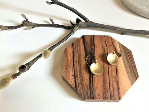 Small Brass Bowl Earrings