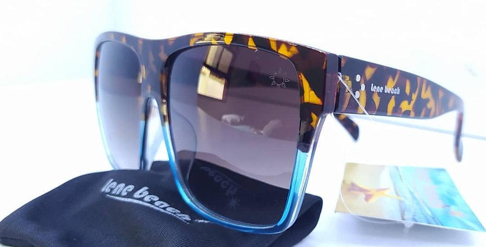 Óculos de Acetato Estampa Animalha com Azul