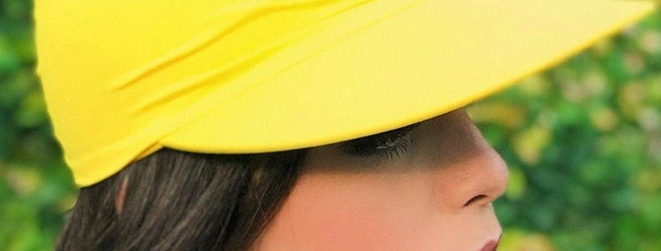 Viseira Turbante Amarelo