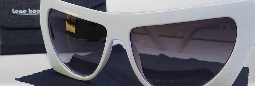Óculos de Acetato Branco Gatinho