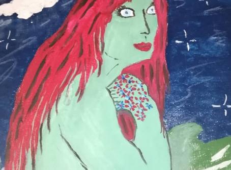 Il mito della Sirena di Viareggio rivive nella pittura dell'artista Nadine