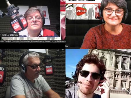 Voce alla Radio su CNN Radio Rosario Argentina e anche su Studio 7 TV HD Canale 611, Marche
