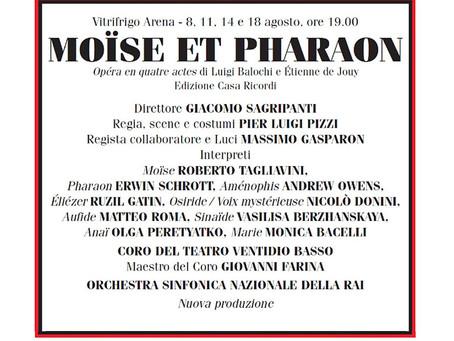MOISE ET PHARAON inaugura il Rossini Opera Festival