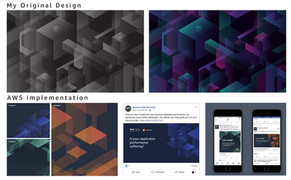 Pattern design utilized by central AWS branding