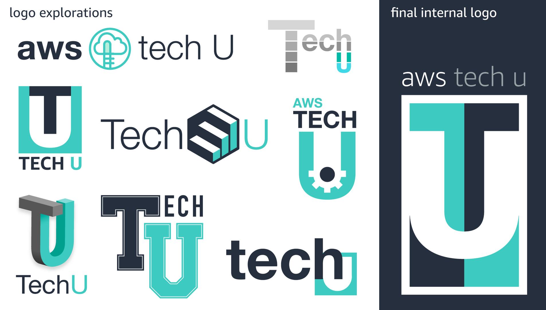 Logo explorations for the internal Tech U program