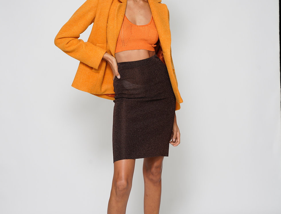 CARBANJACKE AUS WOLLE  IN ORANGE