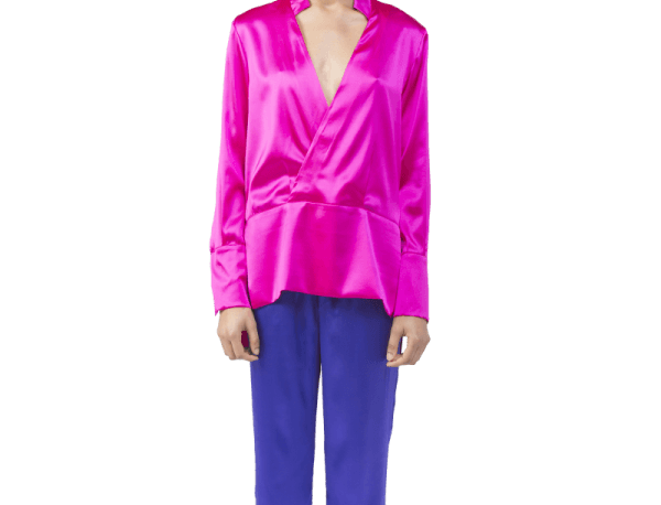 SEIDENBLUSE IN PINK