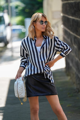 JACOB LEE LONDON - OVERSIZE STRIPED SILK SHIRT
