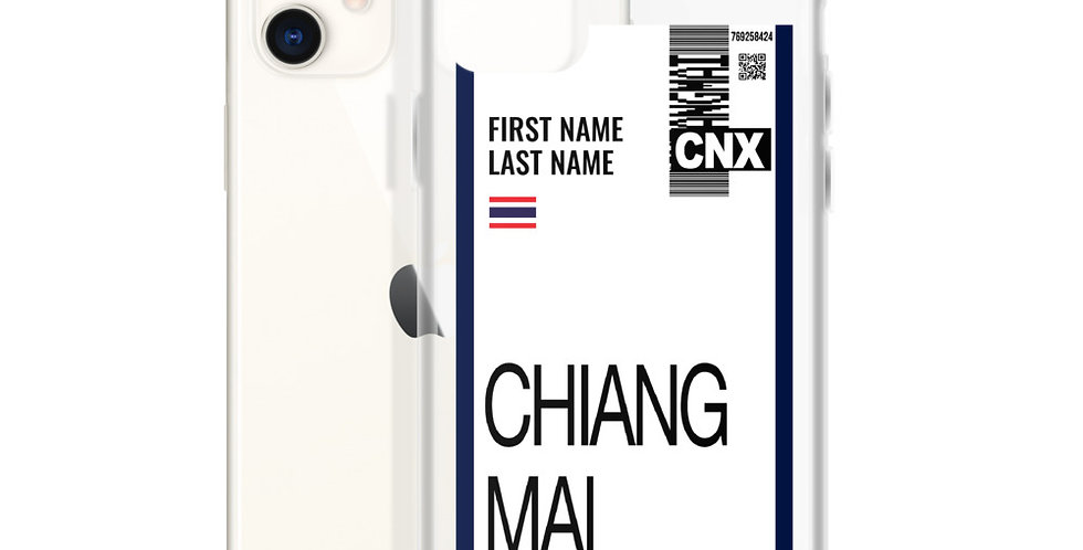 Personalized iPhone Case : Boarding Pass Chiang Mai Edition