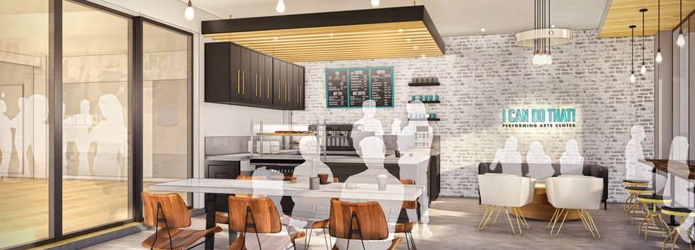 Rendering of the ICDT! Cafe & Lounge