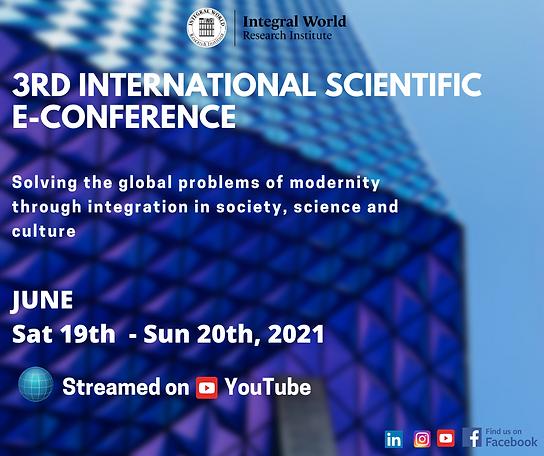 3rd International Scientific E-conferenc