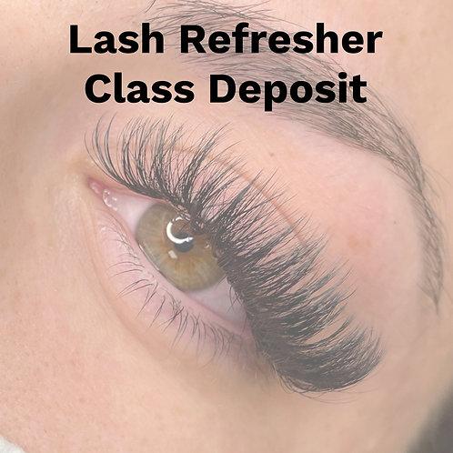 Lash Refresher Class Deposit