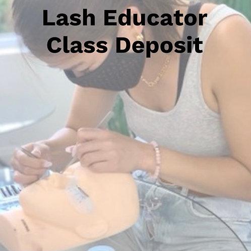 Lash Educator Training Certification Deposit