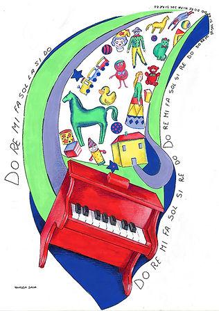 toy piano art