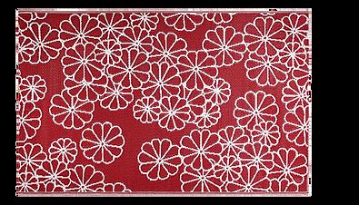 Flower Natte motif fleurs rose