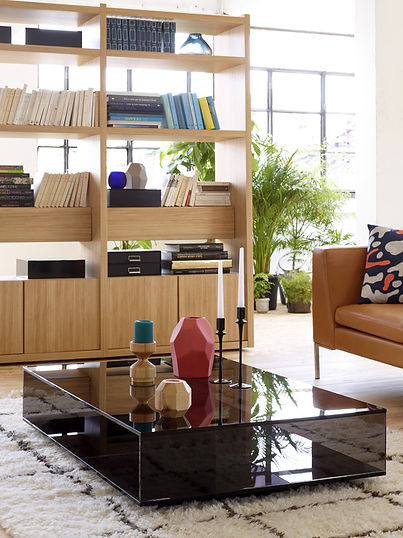 Genna, Large oak shelving unit, and its extension