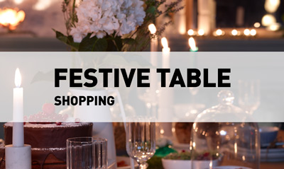 Festive table // Shopping
