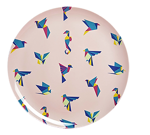 Origami Round patterned tray