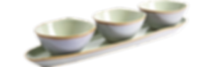 Beihai Set of 3 bowls and 1 tray
