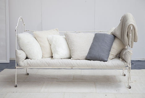 Selection of white and natural cushions