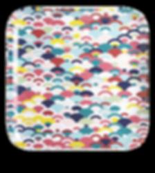 Flo Large melamine patterned tray