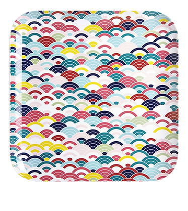 Flo Large melamine patterned tray