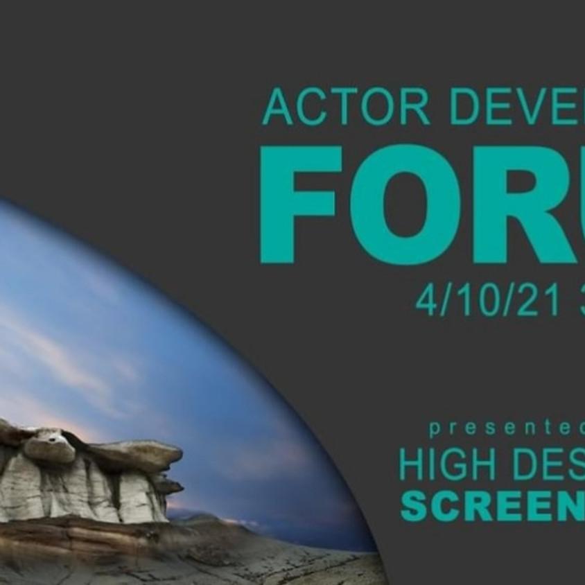 Actor Development Forum 2021