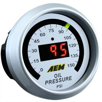 AEM Digital Fuel or Oil Guage 150psi