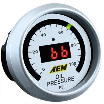 AEM Digital Fuel or Oil Guage 100psi