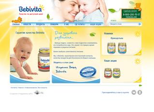 Сайт российского представительства немецкого производителя детского питания Bebivita