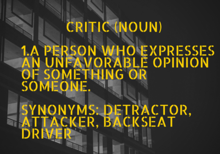 Confronting the Loudest Voice in the Room: How to Silence Critics