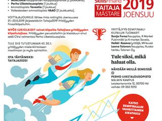 TAITAJA19-kisan yrittäjyyden semifinaali 30.1.2019 Tervetuloa!