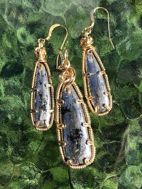 Native Silver Pendant & Earring Set