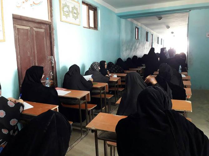 Examen organisé par MRCA pour l'entrée en écoles de sage-femmes et infirmières de Nimroz