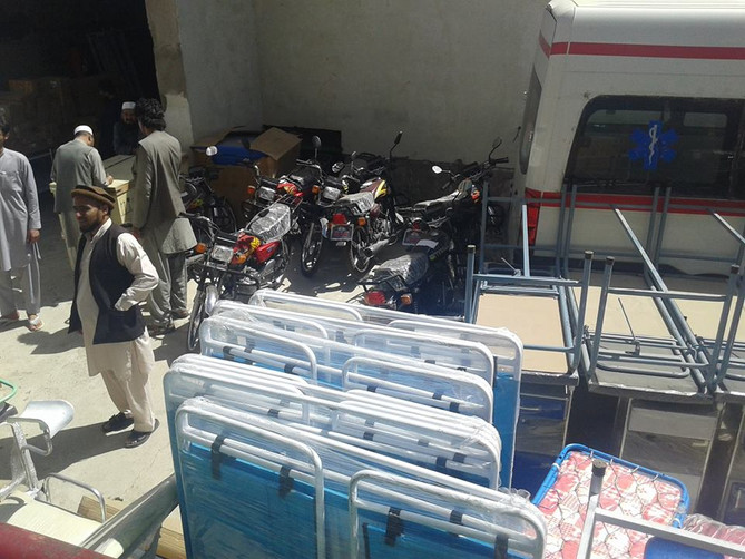 Medical and non medical equipment delivered to Paktya Health facilities