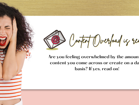 Content Overload is REAL! (for both creators & consumers)