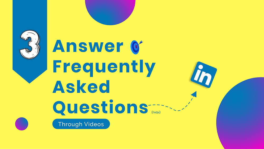 Yellow card saying answer FAQs
